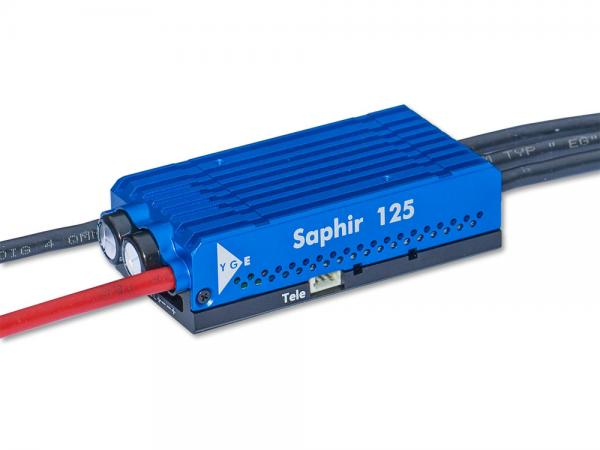 YGE Saphir 125 Brushless Regler 125A mit Telemetrie 4-8S