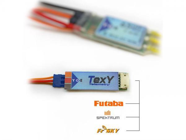 YGE LVT / HVT Futaba, Spektrum, FrSky Telemetrie Adapter