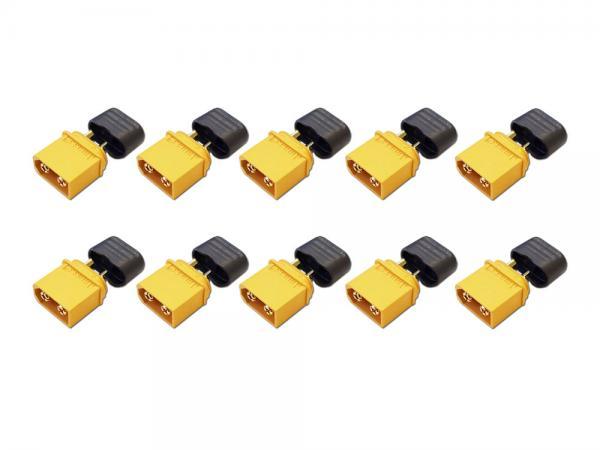 Goldkontakt Buchse 3,5mm mit Gehäuse gelb + Kappe ( XT-60H ) 10er Set