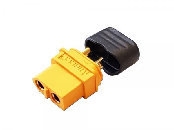 Goldkontakt Stecker 3,5mm mit Gehäuse gelb + Kappe ( XT-60H )