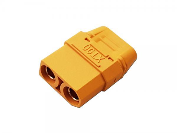 XT90 Goldkontakt Stecker 4,5mm mit Gehäuse gelb # ZB-ST-XT-90