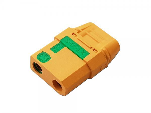 XT90S Goldkontakt Stecker mit Antiblitz und Gehäuse gelb