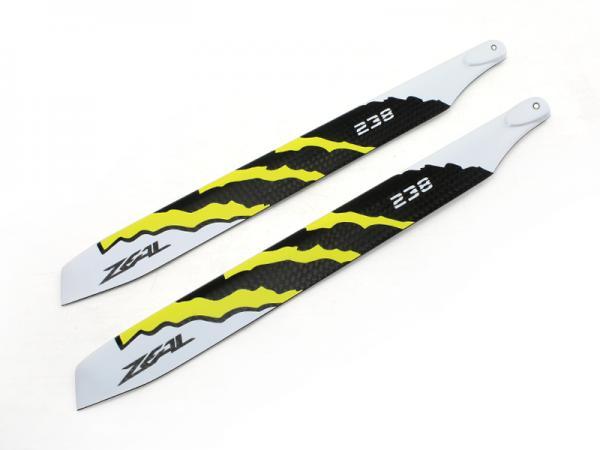 LYNX Blade 230S Carbon Hauptrotorblätter 238mm Energy - gelb