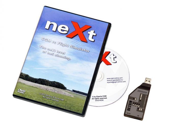 neXt CGM RC Heli Flugsimulator (DVD) inkl. RX2SIM # 161003