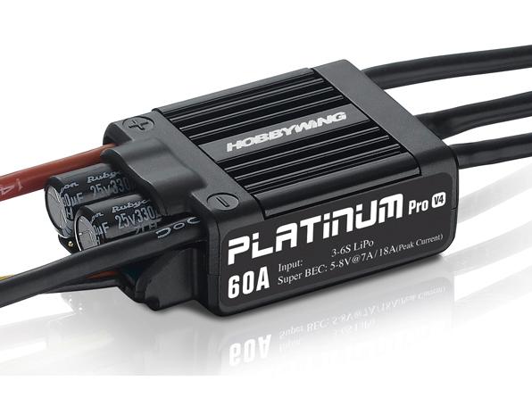 HOBBYWING Platinum Pro 60A Regler 2-6s BEC 7A für 450 Heli # HW30215100