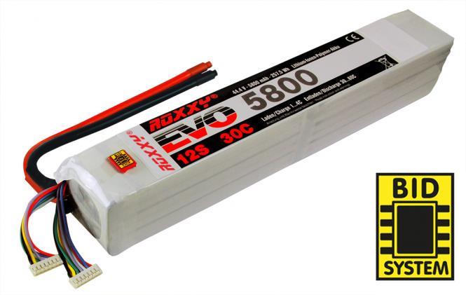 Multiplex Roxxy Li-Po Akku 44,4V 5800mAh 12S 30C # 316998