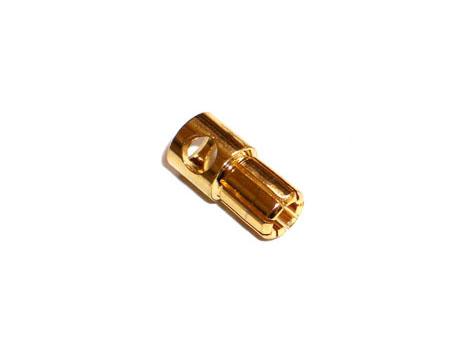 Goldkontakt Stecker 6mm # ZB-G-ST-60