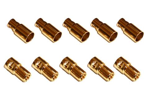 Goldkontaktverbinder 6mm Set mit je 5 Stück # ZB-G-SB-60-5