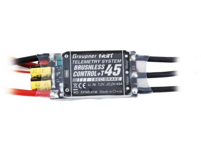 Graupner 45A BRUSHLESS CONTROL +T 45 XT60 # 33745.XT60