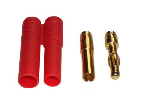 Goldkontakt Stecker 4mm mit Gehäuse # ZB-RG-4mm