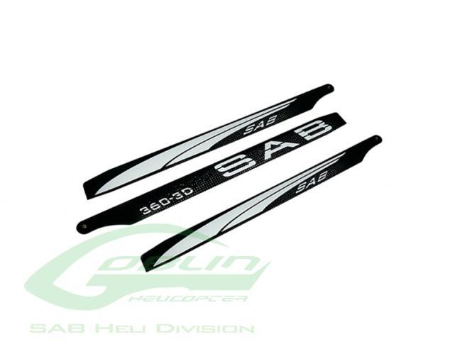 SAB 380 SAB Blackline 380 3D 3Blatt CFK Hauptrotorblätter # 3BL360-3DW