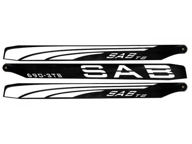 SAB THUNDERBOLT Carbon Hauptrotorblätter 690mm (3-Blatt) # SAB-6903TBS