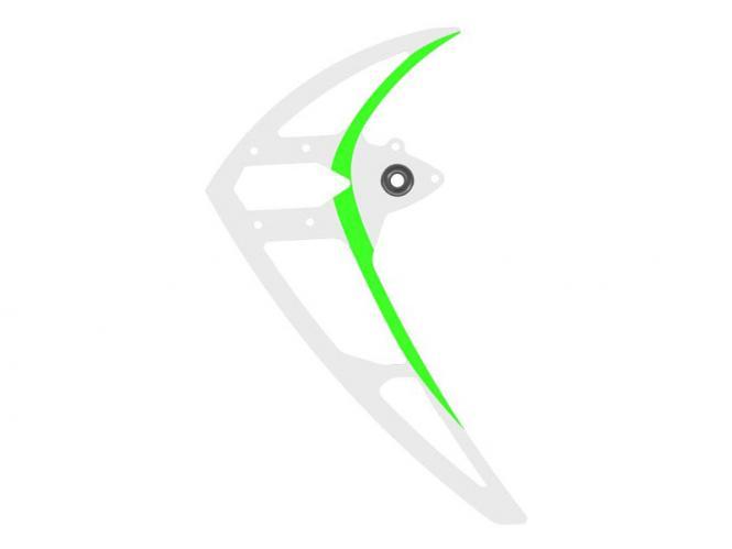 Mikado LOGO 550 Carbon-Seitenleitwerk mit Lager, weiß-grün # 05180