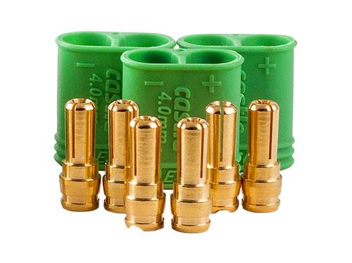 Castle Polarized Bullet Conn Male, 4mm Set # CSE011007500