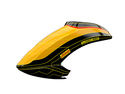 Mikado LOGO 550 Haube neon-orange/schwarz # 05156