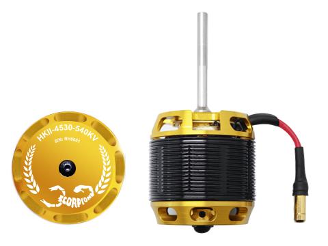 Scorpion HKII-4530-540KV Brushless Motor (Welle 6mm x 55mm)  # HKII-4530-540