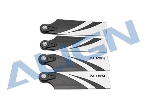 Align T-REX 500 Heckrotorblätter Kunststoff 78mm # HQ0773A