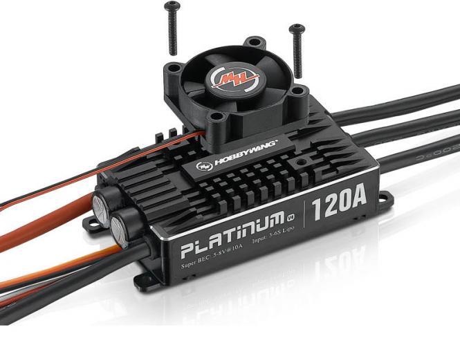 HOBBYWING Platinum Pro 120A V4 3-6S LiPo 10A BEC # HW30203401