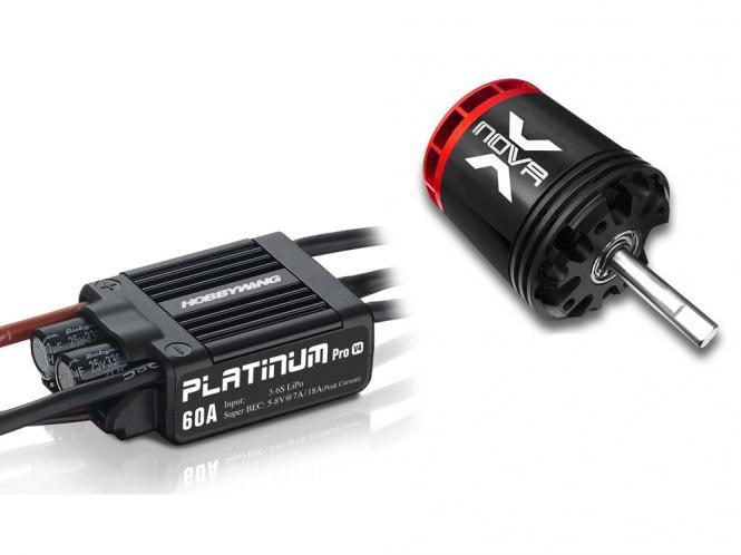 Antriebsset HW Platinum Pro 60A mit XNOVA XTS-2820-890 380ger Helis # HWPRO60-XTS2820-890