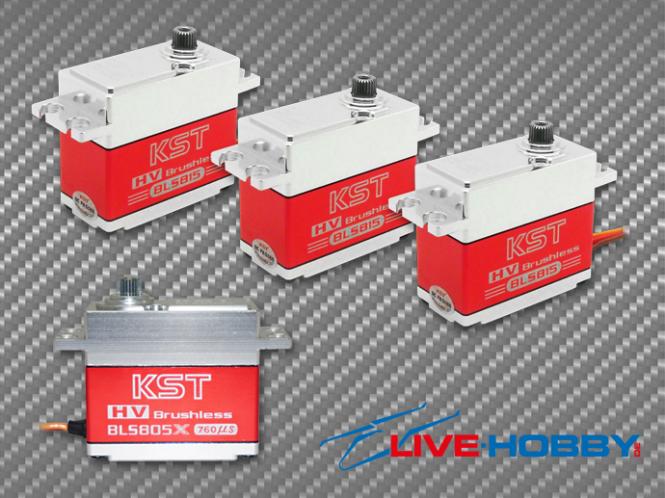 KST Heli Servoset 3x BLS815 1x BLS805X Brushless # BLS815-BLS805X