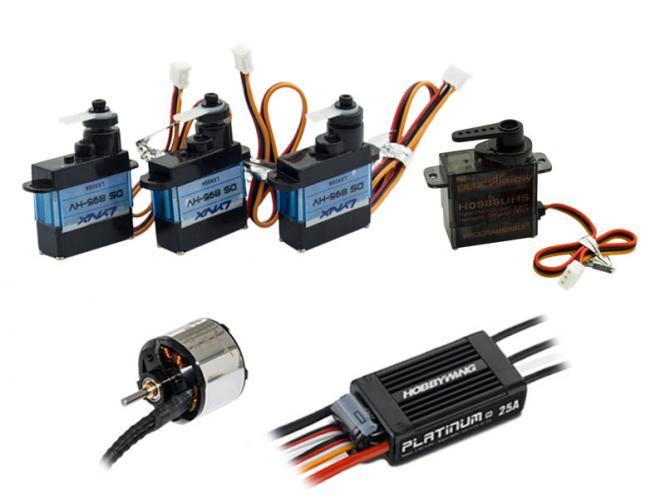 Nexspor LYNX Componenten Set Motor, ESC, Servos, FBL