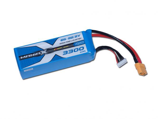 ManiaX LiPo 6S 3300mAh 22.2V eXpert 45C