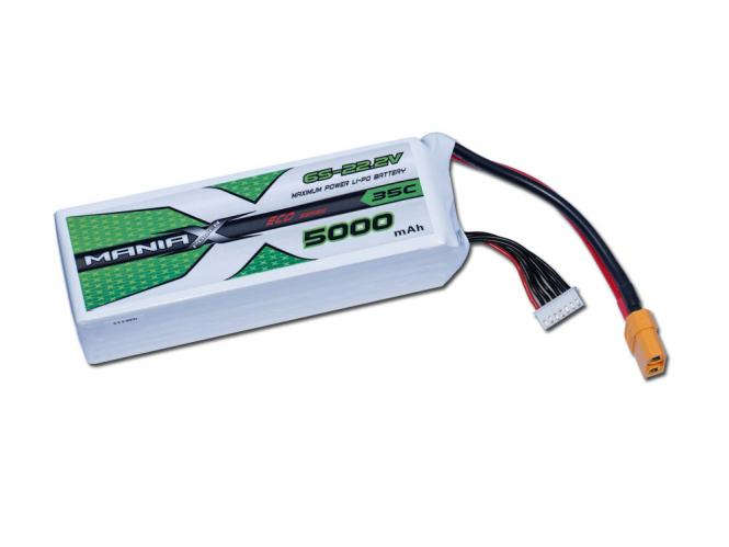 ManiaX LiPo 6S 5000mAh 22.2V ECO 35C