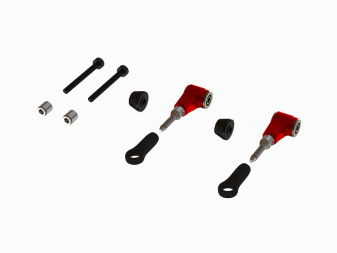 OXY Heli OXY3 - 4 CNC Alu DFC Arm Set - rot # OSP-1128