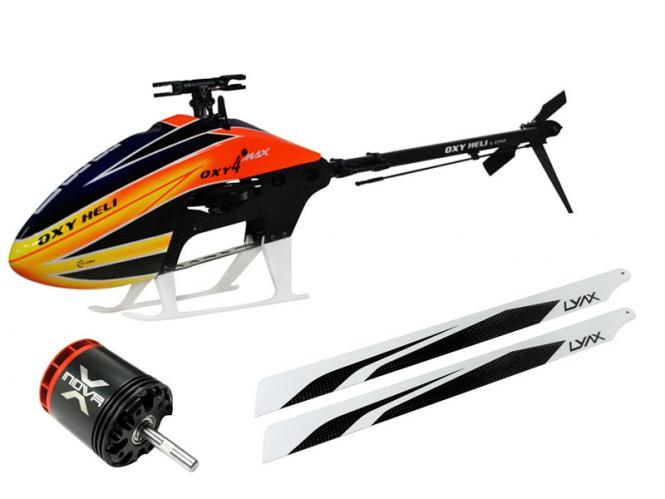 OXY Heli OXY4 MAX Helikopter with Blätter and XNOVA Motor # OXY4MAXS1