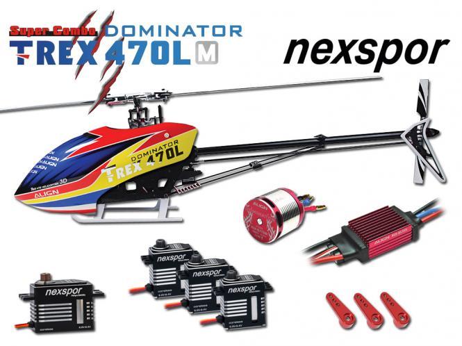 Align T-REX 470LM DOMINATOR Nexspor Combo # RH47E04NXP