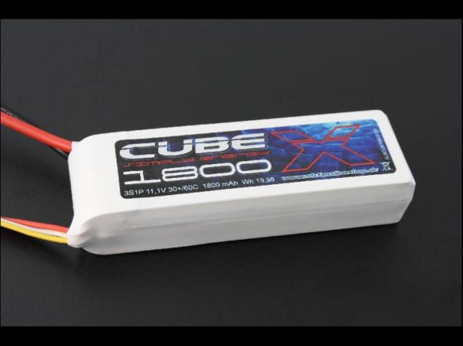 SLS X-Cube 1800mAh 6S1P 22,2V 30C/60C # SLSCUX18006130