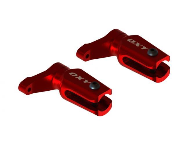 OXY Heli OXY2 CNC Alu Blatthalter rot # SP-OXY2-002