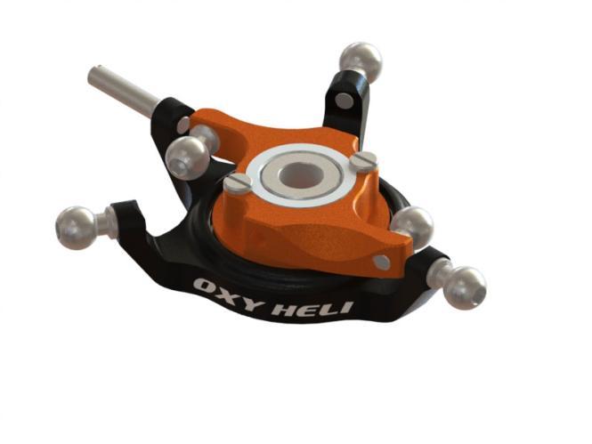 OXY Heli OXY3 TE Alu Taumelscheibe schwarz/orange # SP-OXY3-114