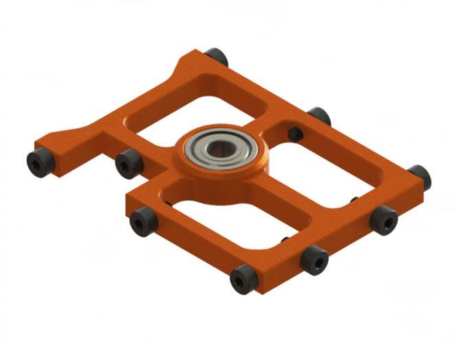 OXY Heli OXY3 TE mittlerer Alu Hauptwellenlagerbock orange # SP-OXY3-116