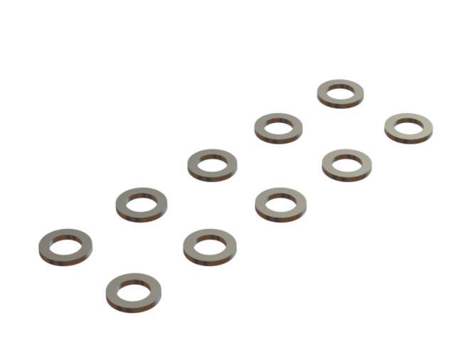 OXY Heli Unterlegscheiben 2.5x4x0.5 - 10 Stück # WM25-40-05