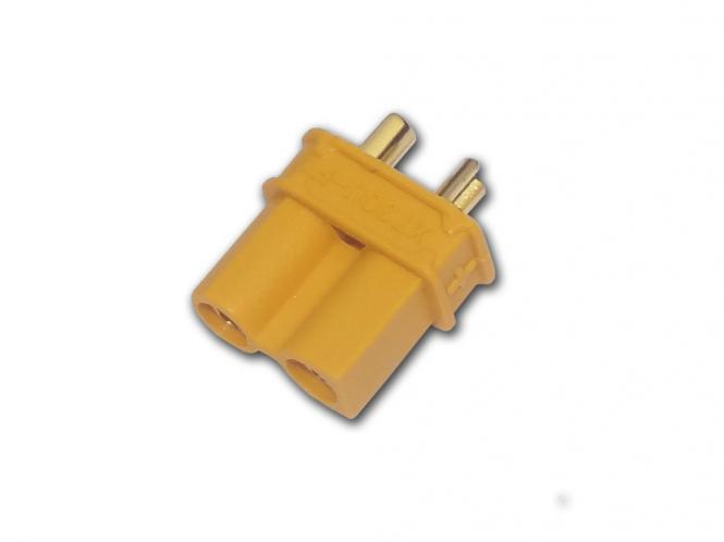 Gold Connector with yellow case XT30 (Male) # ZB-ST-XT-30