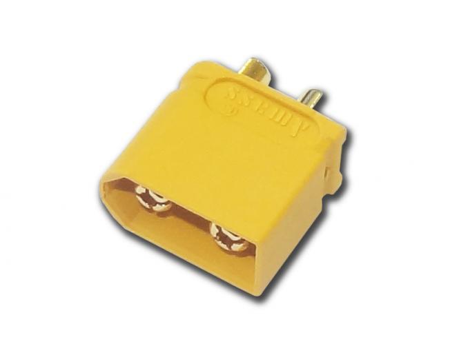 Goldkontakt Buchse 3,5mm mit Gehäuse gelb ( XT-60 ) # ZB-BU-0118