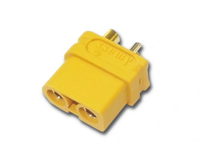 Goldkontakt Stecker 3,5mm mit Gehäuse gelb ( XT-60 ) # ZB-ST-0118