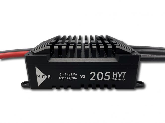YGE 205HVT Brushless Regler 205A limited Black Edition # YGE-205HVTB-BE