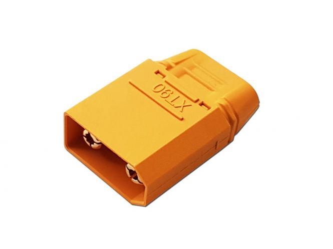XT90 Goldkontakt Buchse 4,5mm mit Gehäuse gelb # ZB-BU-XT-90