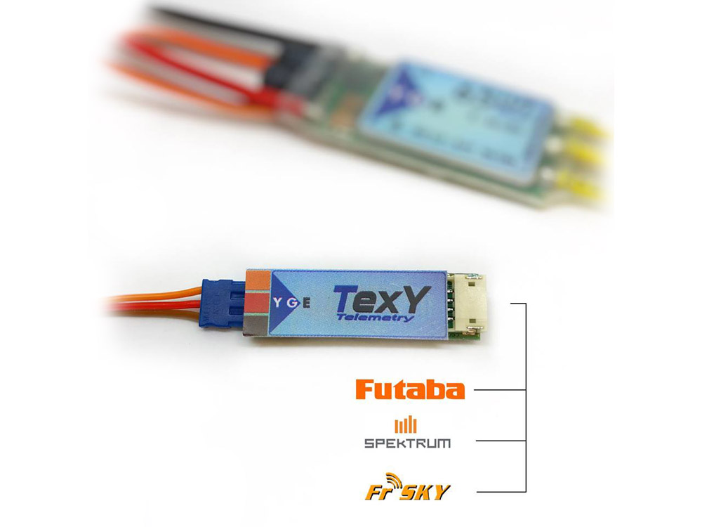 YGE LVT / HVT Futaba, Spektrum, FrSky Telemetry Adapter # YGE-TEXY