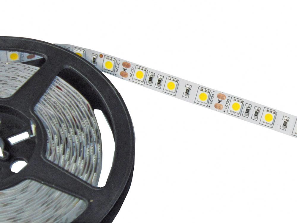 led strips kette weiss 14 4 w m 5m 60 leds m 12 vdc 48194 w live. Black Bedroom Furniture Sets. Home Design Ideas