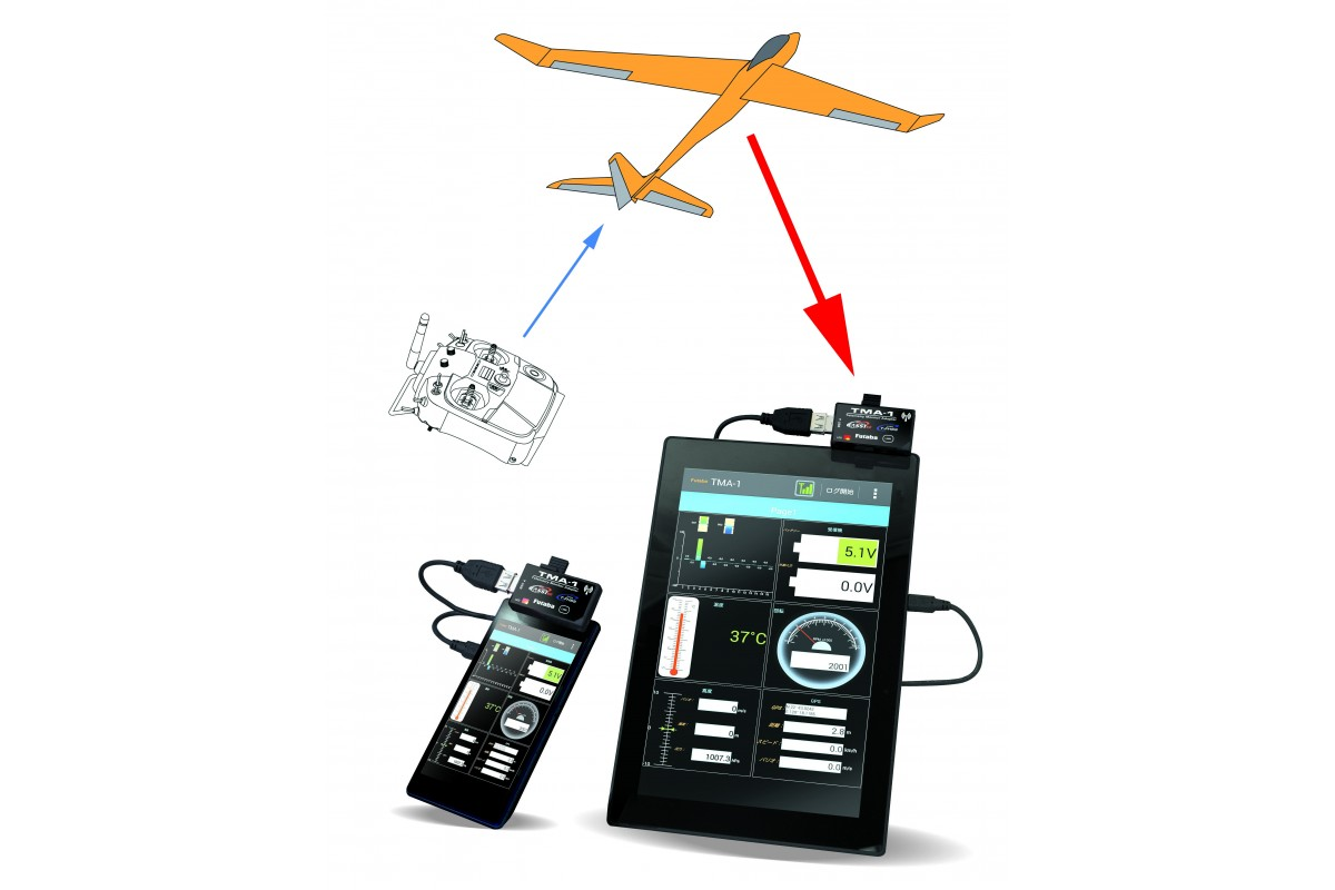 futaba tma 1 telemetry monitor adapter p tma 1 live. Black Bedroom Furniture Sets. Home Design Ideas